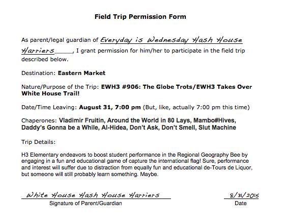 Field trip permission ewh3